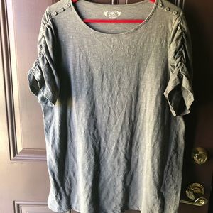 Cato grey button embellished tee
